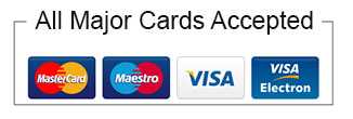 All Major Credit and Debit cards Accepted